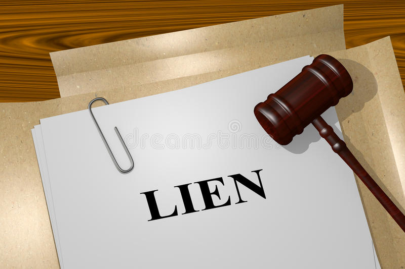 Lien - legal concept stock illustration