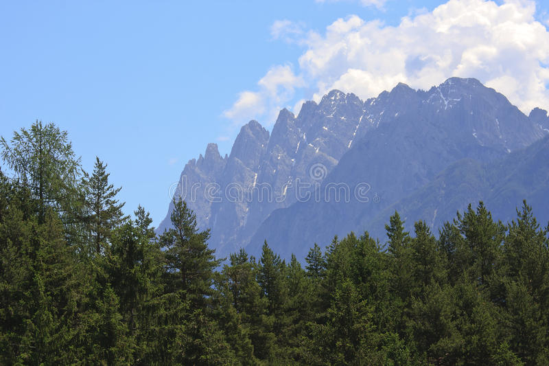 Lienzer Dolomites, seen from Unterried, Austria royalty free stock photography