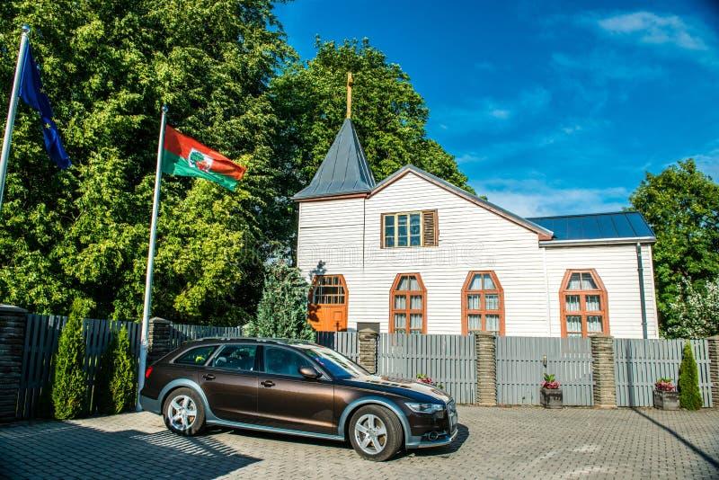 Liepaja drewniany kościół fotografia royalty free