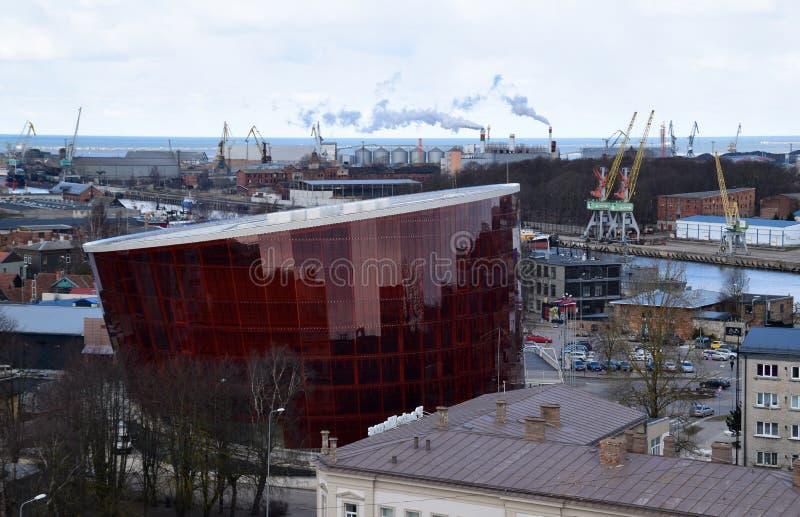 Liepaja, Latvia, 15 March, 2018. Liepaja modern concert hall `Great Amber`. stock image