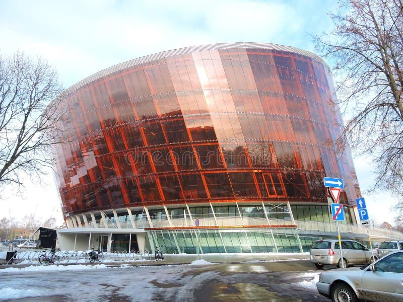 Liepaja town modern building, Latvia stock photo