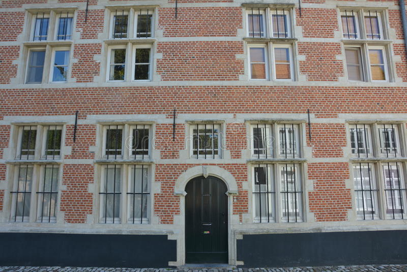 Lier, Bélgica Casa en el Beguinage fotografía de archivo