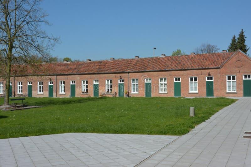 Lier, België Huizen in Beguinage royalty-vrije stock afbeelding