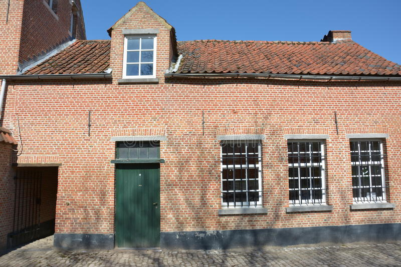 Lier, België Huis in Beguinage stock foto's