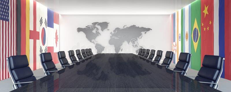 Lieu de conférence et de réunion illustration de vecteur