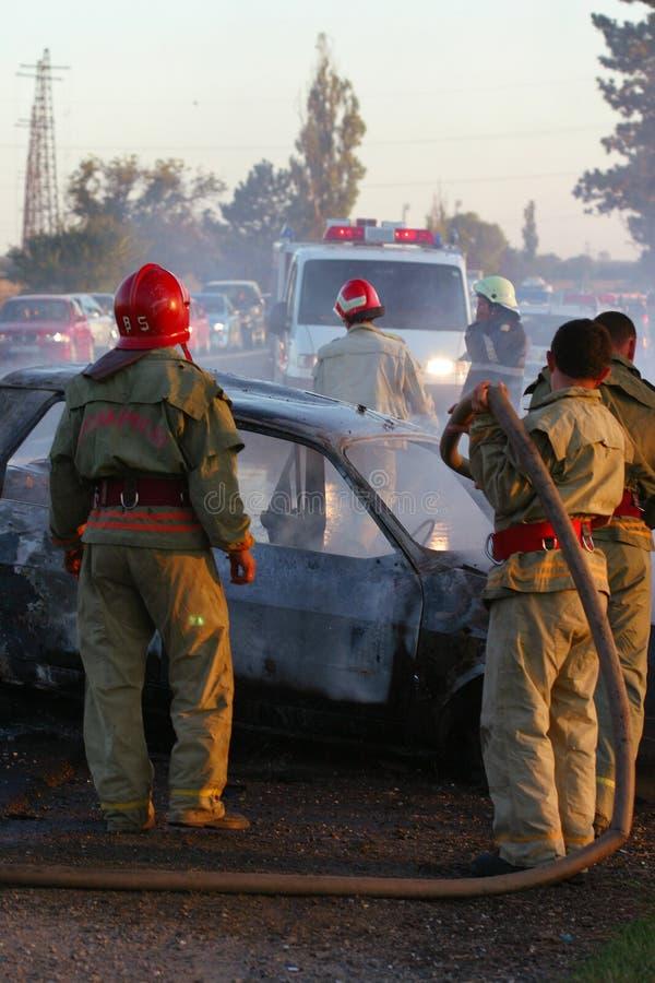 Lieu de l'accident photos stock