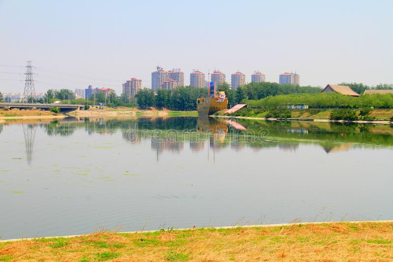 lieu de naissance de canal grand de Pékin-Hangzhou images stock