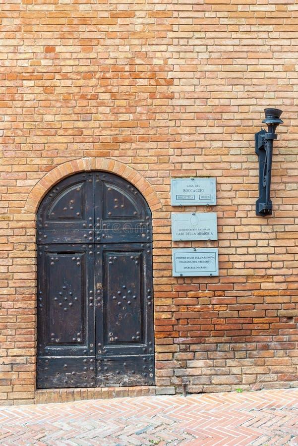 Lieu de naissance de Giovanni Boccaccio, auteur de Decameron photos libres de droits