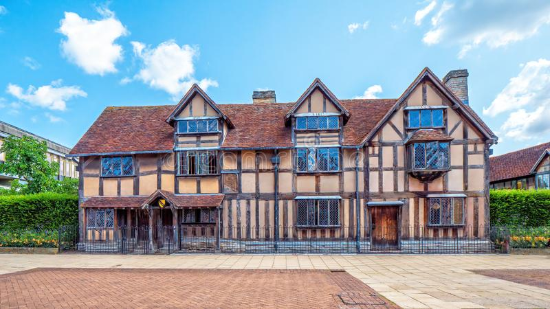 Lieu de naissance de William Shakespeare, Stratford upon Avon, Warwickshire, Angleterre image stock