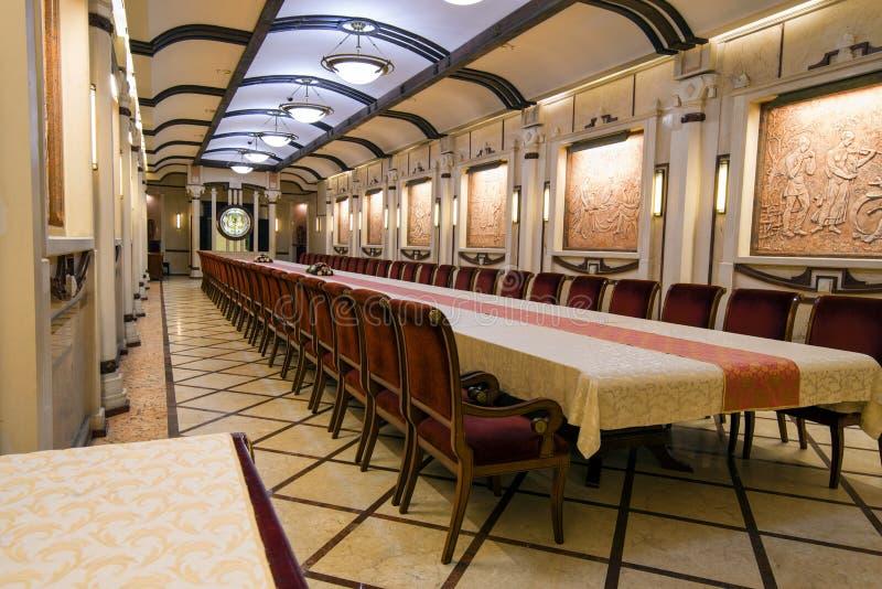 Lieu de réunion dans l'établissement vinicole de Cricova photo stock