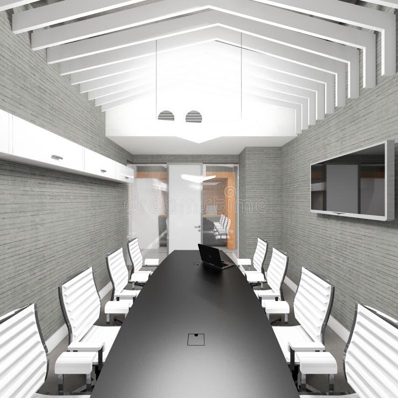 Lieu de réunion intérieur de bureau moderne vide image libre de droits