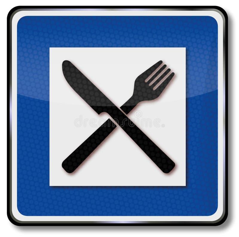 Lieu de repos pour un repas illustration libre de droits