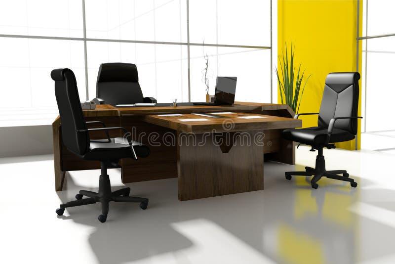Lieu de travail au bureau moderne illustration libre de droits