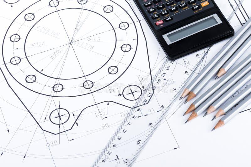 Lieu de travail d'ingénieur/architecte images stock