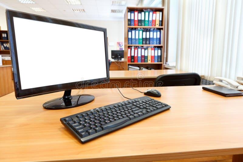 Lieu de travail dans le bureau image libre de droits