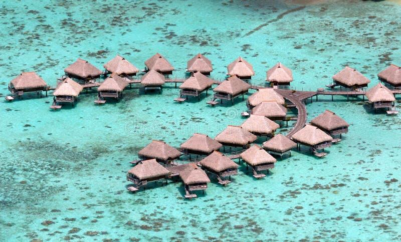 Lieu de villégiature luxueux de bora de Bora image stock