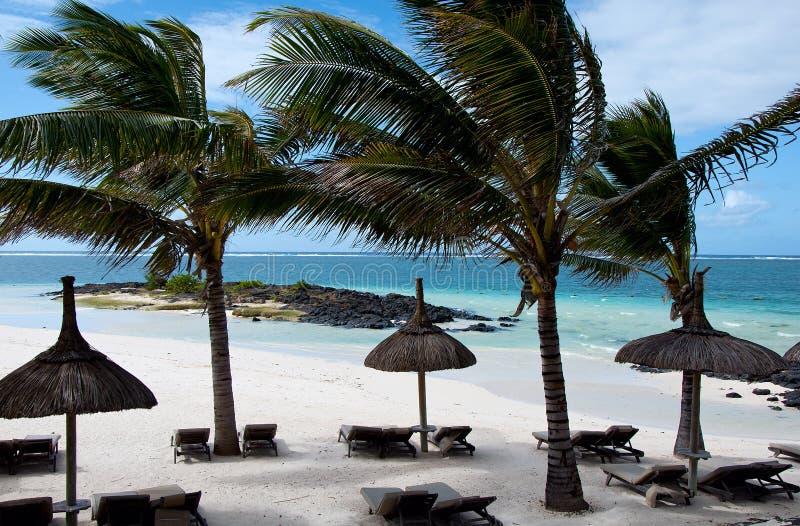 Lieu de villégiature luxueux en Îles Maurice photographie stock libre de droits