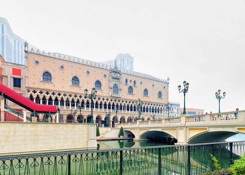 Lieu de villégiature luxueux de Macao vénitien au Macao images stock