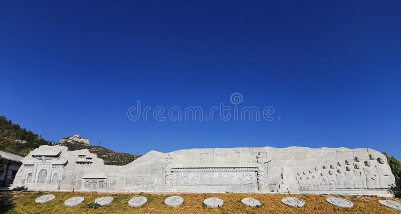 34/5000 Lieu pittoresque national 4A, le village de Baodu est un célèbre village de montagne intégrant histoire, culture et paysa image libre de droits
