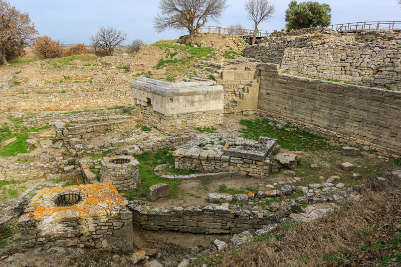 Lieu saint des ruines en Troy Turkey photo libre de droits