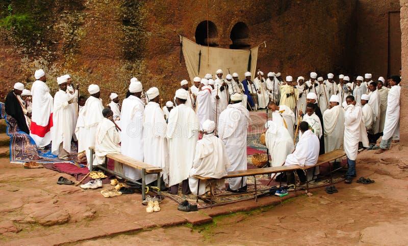 Lieu saint Lalibela en Ethiopie images stock