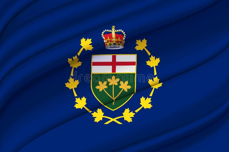 Lieutenant-Governor Of Ontario waving flag illustration. States, cities and Regions of Canada. Perfect for background and texture usage stock illustration