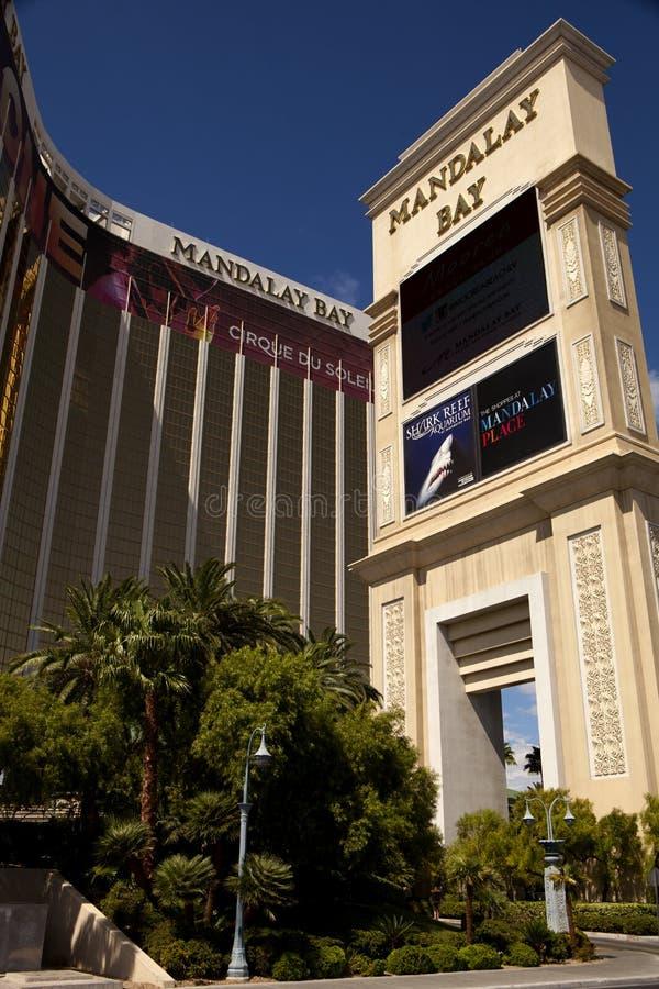 Lieux de villégiature luxueux de casino et d'hôtel de baie de Mandalay à Las Vegas photographie stock
