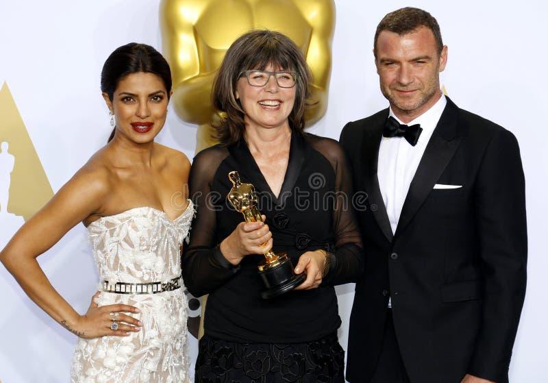 Liev Schreiber, Margaret Sixel i Priyanka Chopra, fotografia royalty free