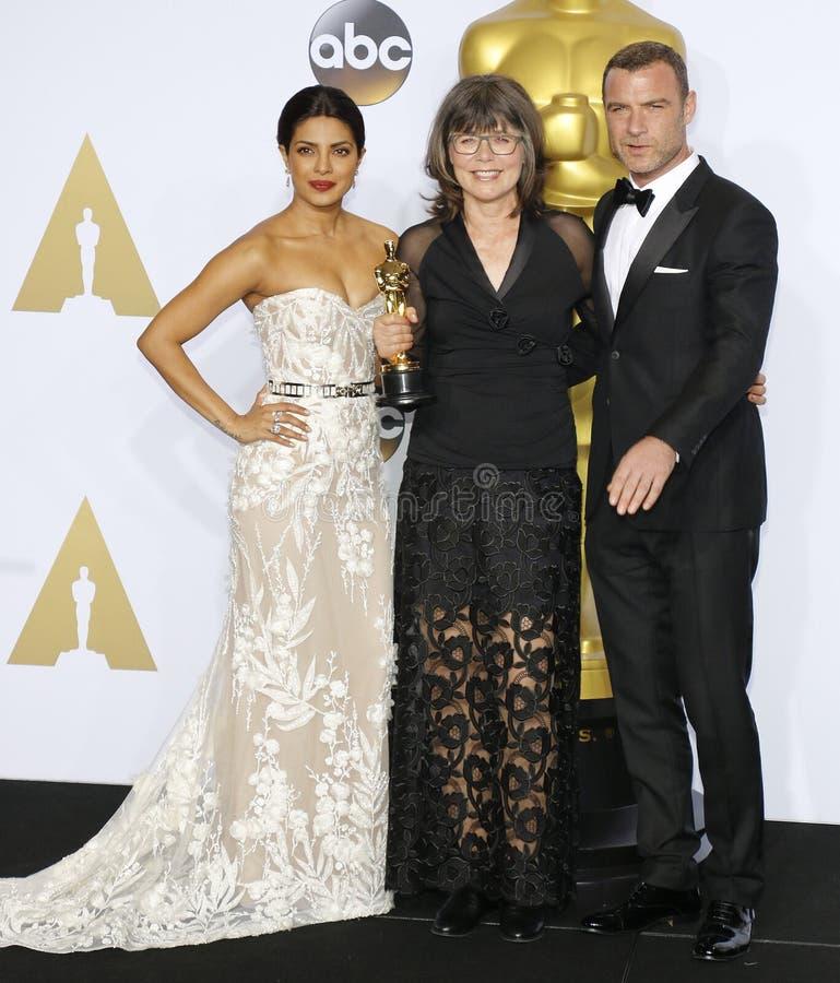 Liev Schreiber, Margaret Sixel i Priyanka Chopra, zdjęcie royalty free
