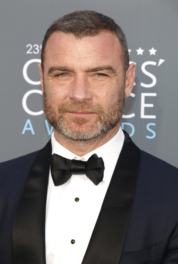 Liev Schreiber. At the 23rd Annual Critics` Choice Awards held at the Barker Hangar in Santa Monica, USA on January 11, 2018 royalty free stock photos