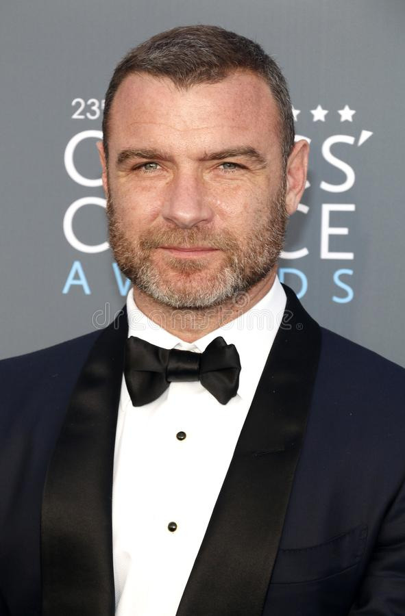 Liev Schreiber. At the 23rd Annual Critics` Choice Awards held at the Barker Hangar in Santa Monica, USA on January 11, 2018 stock images