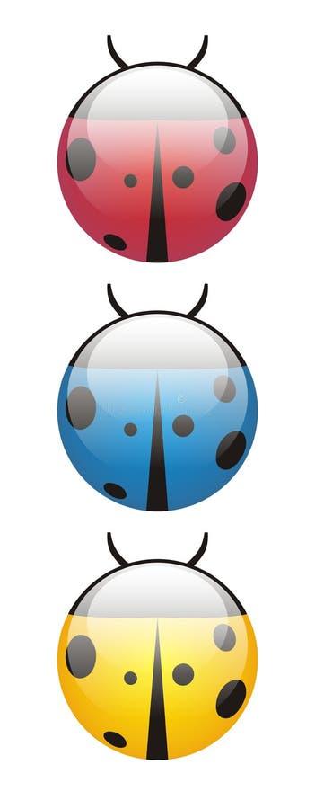 Lieveheersbeestje stock illustratie