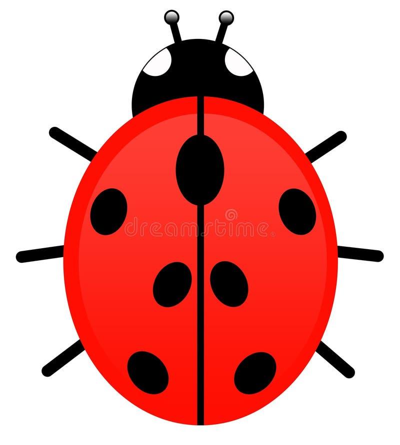 Lieveheersbeestje vector illustratie