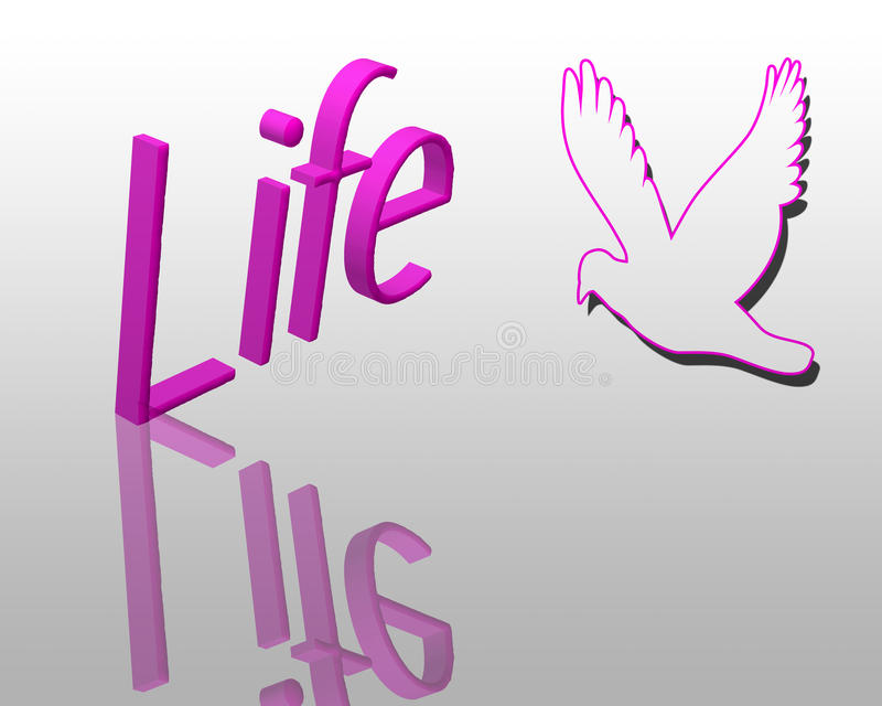 Life 3d text stock photography