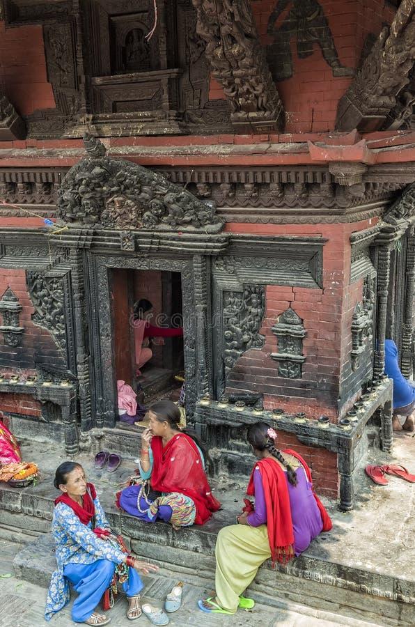 Life and activites along the holy Bagmati River at Pashupatinath Temple, Kathmandu, Nepal royalty free stock photo