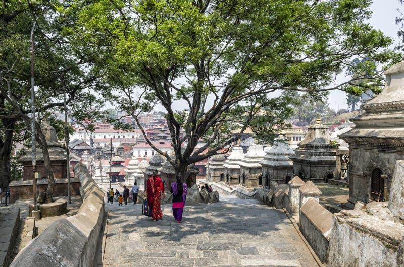 Life and activities along the holy Bagmati River at Pashupatinath Temple, Kathmandu, Nepal. stock photography