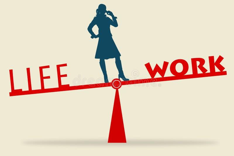 Life balance stock illustration