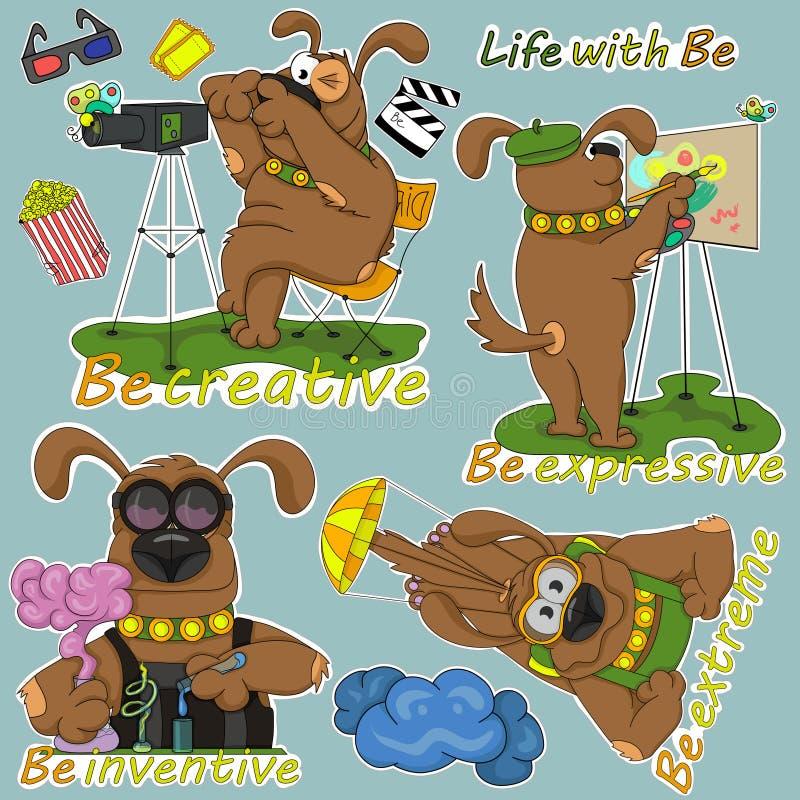 Life_with_Be_three 向量例证