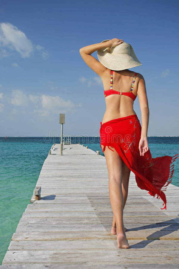 Life is a Beach (Jetty) stock image