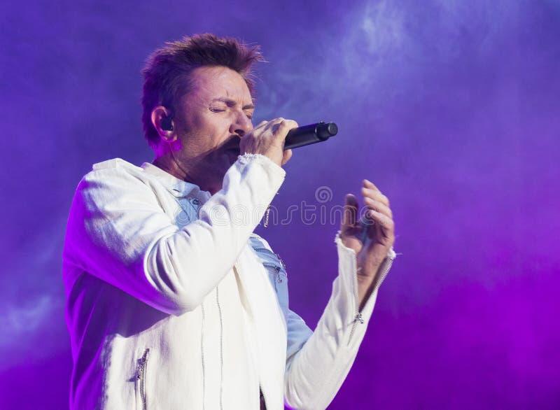 Life Is Beautiful Festival. LAS VEGAS - SEP 26 : Musician Simon LeBon of Duran Duran performs onstage during day 2 of the 2015 Life Is Beautiful Festival on stock photography