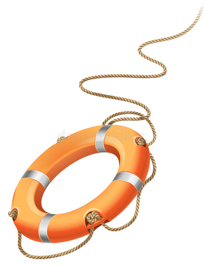 Download Life belt stock vector. Image of buoy, rope, symbol, security - 14359573