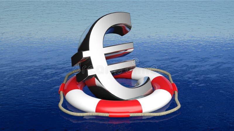 Download Life belt with euro sign stock illustration. Illustration of assistance - 34648446