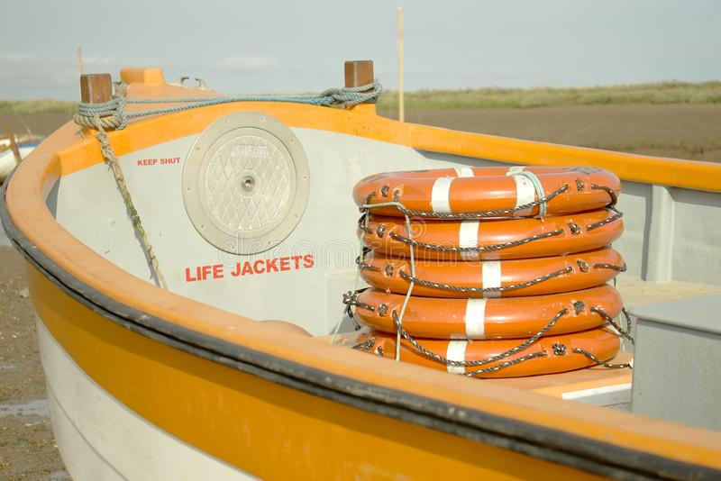 Life belts for boat safety. royalty free stock photo