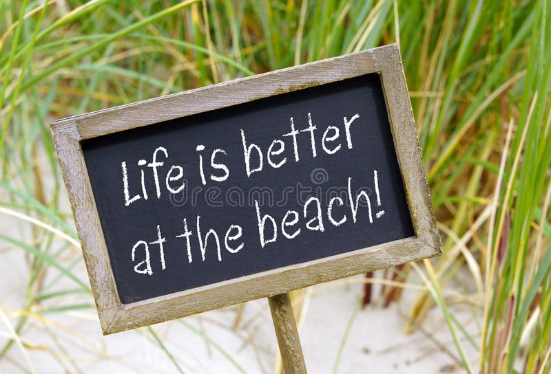 Life is better at the Beach stock photos