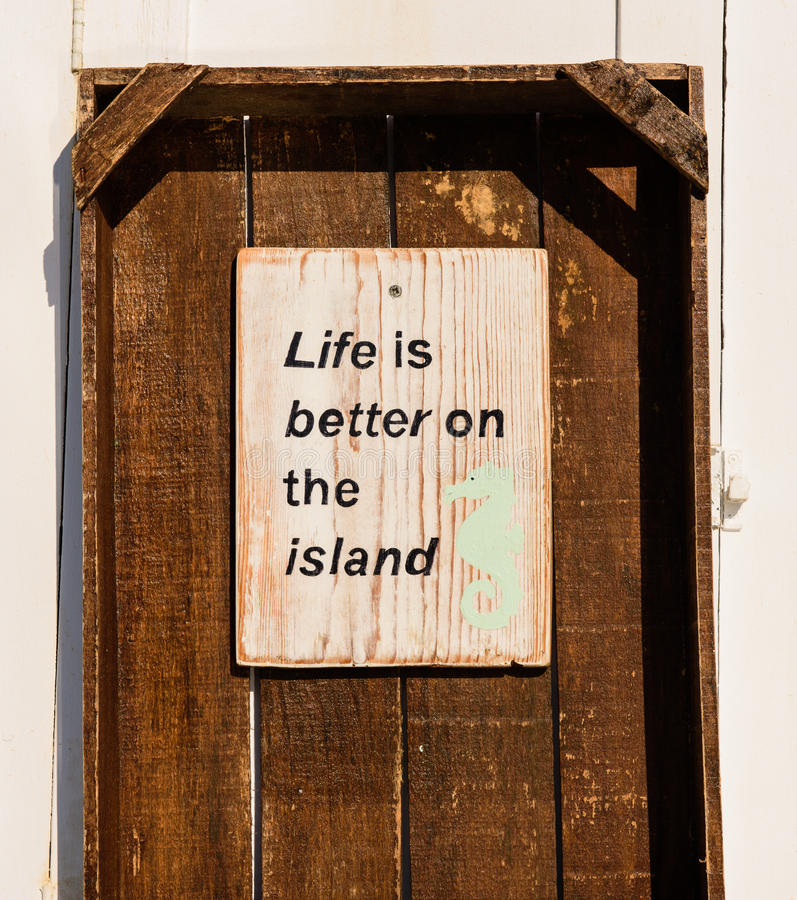 Life is better on the island royalty free stock photos