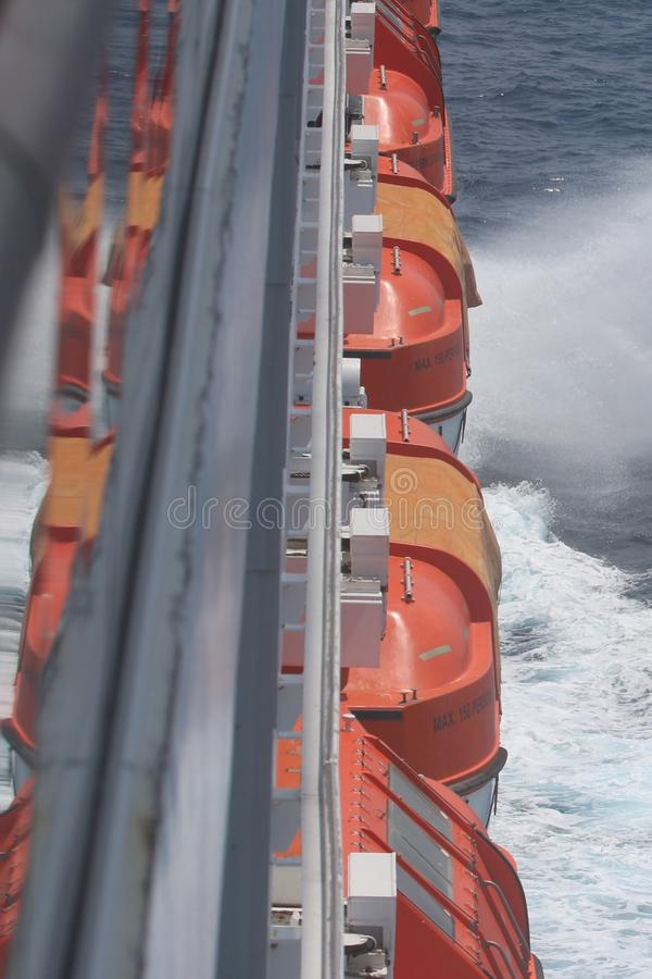 Series of life boats royalty free stock image