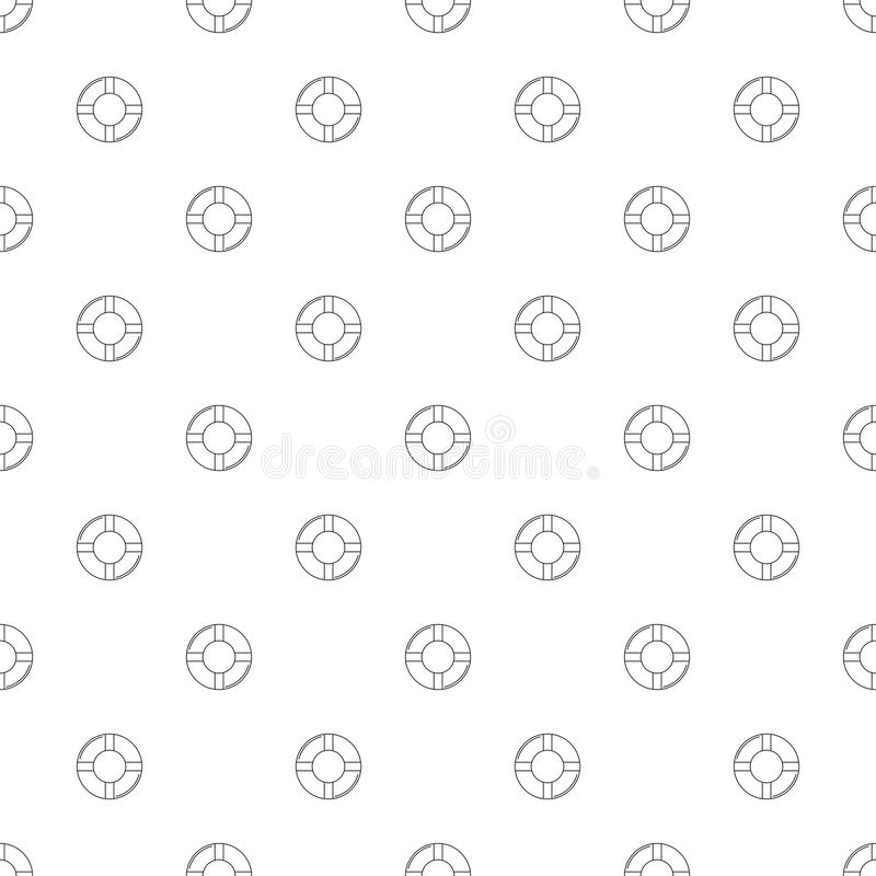 Life bouy background from line icon. royalty free illustration