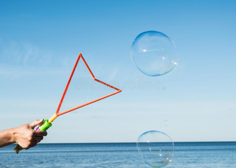 The life of the bubble is beautiful, but short. royalty free stock image