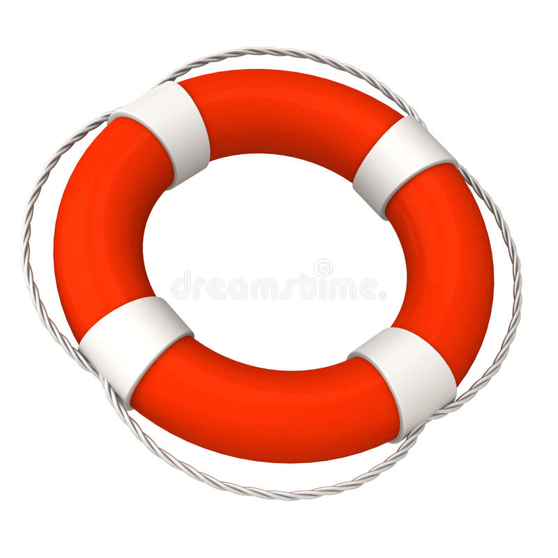 Download Life buoy 3d stock illustration. Image of bright, circle - 26091568