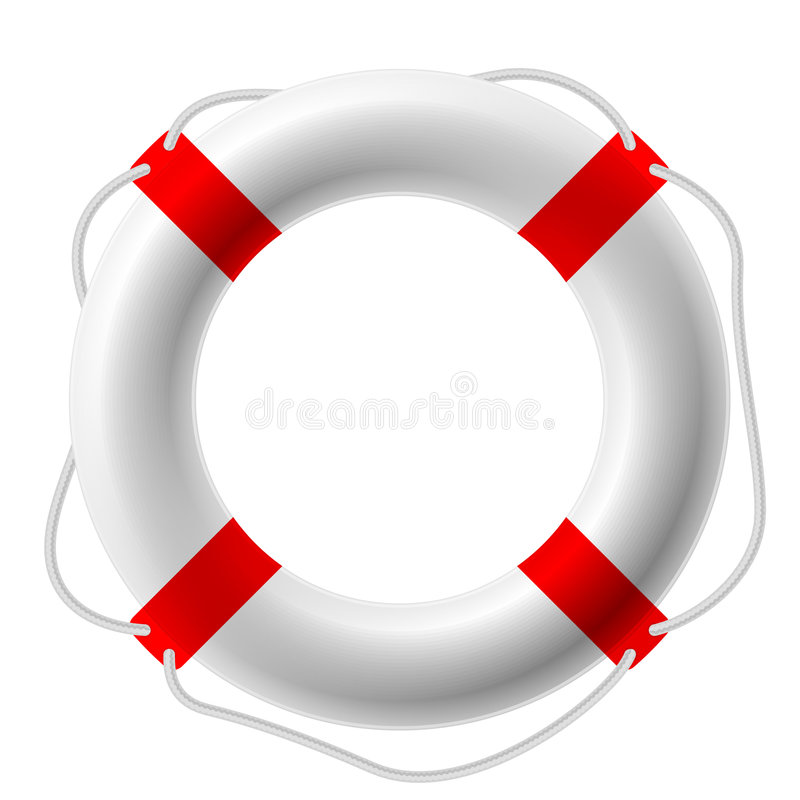 Download Life buoy stock vector. Image of insurance, circle, rescue - 7284508